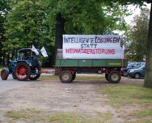 Protest mit Trecker in Uelzen
