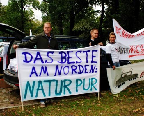 Bahnprotest in Uelzen