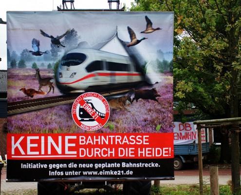 Keine Bahntrasse durch die Heide!